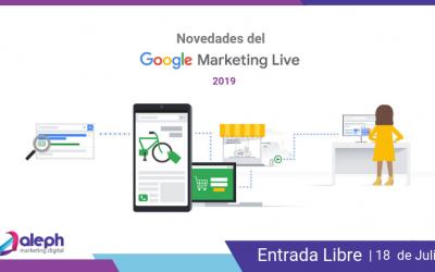 Novedades del Google Marketing Live 19